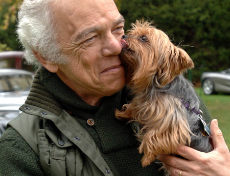 Ralph Lauren with his pup Bikini ©Susan Farley Photography/NYC and Westchester Portrait Photographer