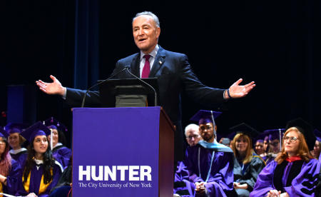 NY Senator Chuck Schumer at Hunter College graduation© Corporate Events Susan Farley NYC, New York Photographer