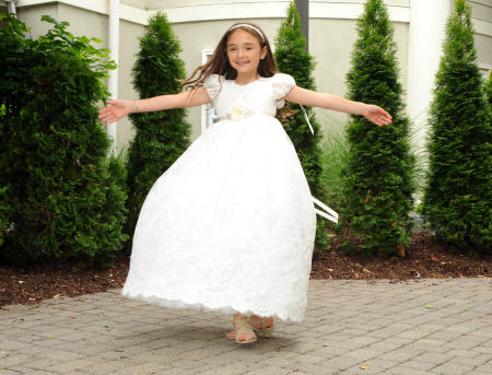 Romy celebrates Communion Day